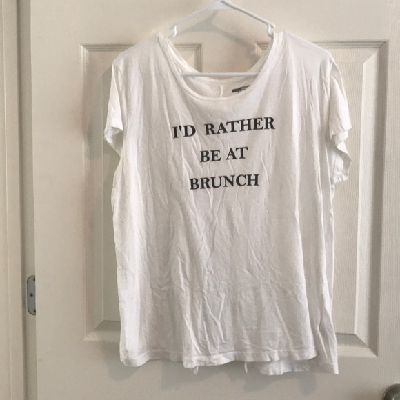 """Tops - """"I'd rather be at Brunch"""" tee"""